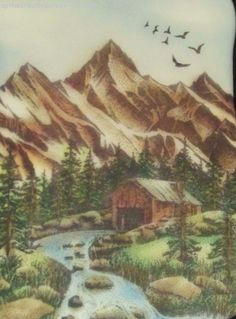 Up the Creative Creek: Old Mill Stampscapes Scene