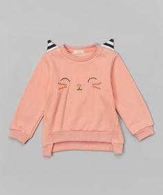 Pink Cat Sweatshirt - Toddler & Girls