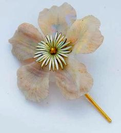 Lalique enamel flower, christie's