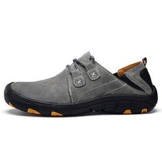 the latest c71cf 40806 Men Comfortable Genuine Leather Elastic Band Oxfords – menhill. Dnkc · Sexy  toes · Dame 4 Camp Shoes Black F36563 ...