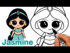 How to Draw Disney Princess Jasmine from Aladdin Cute