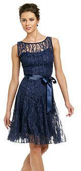 Xscape Lace Dress with Ribbon on shopstyle.com