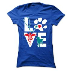"""Veterinarian Love dog v.Teal – teelime"" T-shirt #vettech #veterinary #veterinarian #vaterinarymedicine #vet"