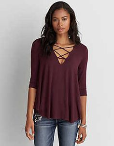 Love the hang and neckline on this top.