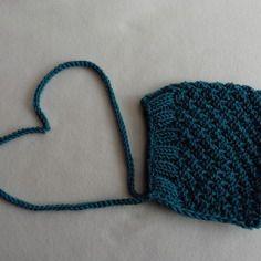 Beguin / bonnet bebe retro romantique / bleu canard