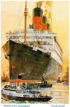 SS Imperator and RMS Berengaria copy of by PanchromaticaDesigns Titanic Poster, Transport Images, Charles Trenet, Sailing Regatta, Ship Paintings, Boat Art, Classic Paintings, Nautical Art, Ship Art