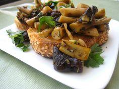 Piopinni Mushroom Bruschetta Recipe; Healthy and Vegan from Homemade Levity
