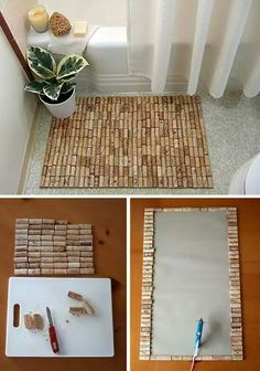 Kitchen. Cork rugs. Dining.  Cork placemats