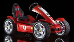 Ferrari FXX Pedal Car The BergToys company has come up with this cool pedal car. It's based on the Ferrari FXX and equipped with lots of stuff you would find in the real car.