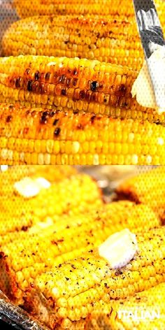Best Ever Oven Roasted Corn is prepped and ready to go in the oven in just 10 minutes. This recipe for corn on the cob in the oven is so simple you will be making it all year long! It is utterly life altering! Mexican Food Recipes, Vegetarian Recipes, Cooking Recipes, Healthy Recipes, Seafood Recipes, Cooking Corn, Cooking Steak, Indian Recipes, Cooking Tips