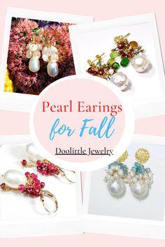 Pearl Gemstone, Gemstone Jewelry, Cluster Earrings, Women's Earrings, Baroque Pearls, Handmade Wedding, Custom Jewelry, Earrings Handmade, Wedding Jewelry