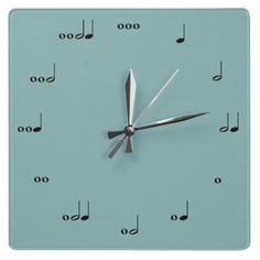 Music Note Wall Clock - I need this for the schoolroom.  I really, really need this.  Really.  Need.
