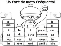Il faut TOUJOURS travailler les mots fréquents...et de façons variées:) French Teaching Resources, Teaching French, Communication Orale, French Education, Core French, Teachers Corner, French Teacher, French Immersion, Literacy Stations