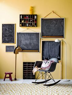 Blackboards wall decor | lushlee