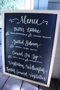 I love the idea of a chalkboard!
