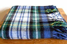 Faribo Plaid Wool Blanket by MarketHome on Etsy