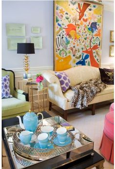 Adore, simply adore, this room by Liz Caan