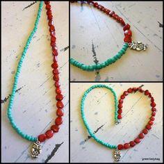 ezebee.com - Red coral Necklace