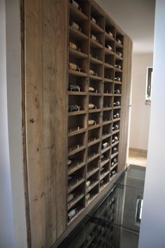 steigerhout -wijnrek