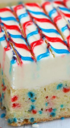 Stars and Stripes Sugar Cookie Bars.     Note:  1 lb butter.   This is very rich.   Small pieces will be plenty!