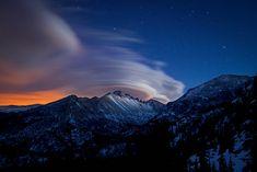 Lenticular Clouds Over Longs Peak