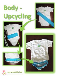 Body Upcycling - perfect for EC * super fürs Windelfrei Sewing Basics, Little Ones, Baby Kids, Sewing Projects, Kids Outfits, Parenting, Textiles, Knitting, Kids Clothing