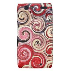 Swirl Me Pretty Colorful Red Blue Pink Pattern Motorola Droid RAZR Case