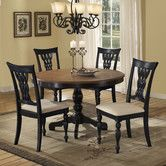 Found it at Wayfair - Embassy 5 Piece Dining Set Cherry top, base rubbed finish