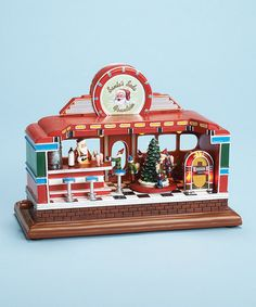 Look at this #zulilyfind! Vintage Santa Diner LED Music Box #zulilyfinds