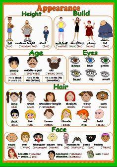 Adjetivos para describir personas en inglés