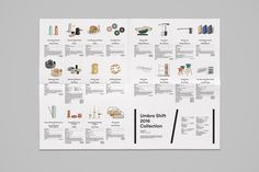 Umbra Shift 2016 Catalog by Post Projects. Catalogue Layout, Ad Layout, Print Layout, Book Layout, Product Catalogue, Editorial Layout, Editorial Design, Ad Design, Layout Design