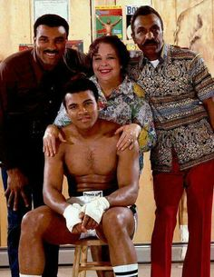 Ali with his Brother, Mother, and Father