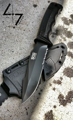 Sog seal strike overall length 9 6 product weight 5 60 oz blade length 4 9 blade thickness 0 16 photo by Swords And Daggers, Knives And Swords, Survival Knife, Survival Gear, Outdoor Survival, Survival Skills, Outdoor Camping, Tactical Knives, Tactical Gear