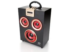 Conceptronic Wireless Party - Altavoces de 11 W (USB, Bluetooth), negro y rojo - http://complementoideal.com/producto/tienda-socios/conceptronic-wireless-party-altavoces-de-11-w-usb-bluetooth-negro-y-rojo/