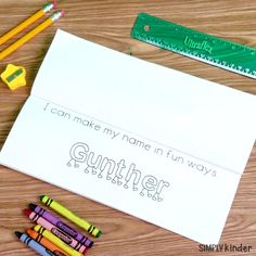 Children learn so many things when learning to write their names - letters, directionality, etc. Students will enjoy doing this Names Book with their FRIENDS. Teacher friendly as you program multiple students in one file too from Simply Kinder Kinder Name Activities, Kindergarten Names, Preschool Names, Spelling Activities, Kindergarten Writing, Kindergarten Activities, Literacy, Teaching Kids To Write, How To Teach Kids