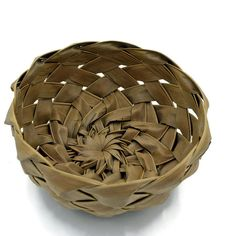Coconut Frond,Palm Leaf Basket, Hawaiian Decor, Boho by PrairieVillageMarket on Etsy