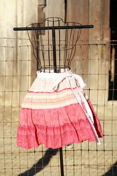 Bohemian Plus Size Half Apron Upcycle  Ombre by Geminivintagestore, $30.00