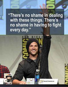 Jared Padalecki falou com a Variety sobre a sua depressão e a sua campanha de camisetas Always Keep Fighting.
