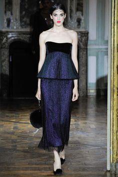 Ulyana Sergeenko Fall 2015 Couture Fashion Show - Nastya Kusakina (Women)