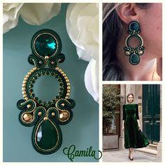 Soutache Pendant, Soutache Necklace, Jewelry Design Earrings, Boho Jewelry, Polymer Clay Charms, Embroidery Jewelry, Homemade Jewelry, Drop Earrings, Tassel Earrings