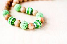 Nursing necklace Mommy Organic Teething bead by kangarusha on Etsy
