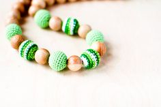 Nursing necklace Mommy Organic Teething bead by kangarusha on Etsy