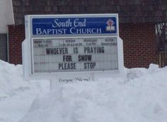 Someone should have shared the prayer love this winter...