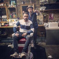 577 отметок «Нравится», 7 комментариев — ⚓Frank Rimer⚓ (@frank_glorified) в Instagram: «Skin fade slick back on my pal @joshhobdentattoo today. Used @reuzel red to style. #thybarber…»