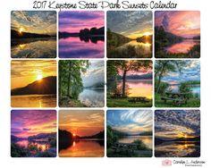 2017 Keystone State Park Sunset Calendar by PhotosByCLAnderson on Etsy