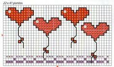 This Pin was discovered by Mer Cross Stitch Boards, Mini Cross Stitch, Cross Stitch Heart, Cross Stitching, Cross Stitch Embroidery, Cross Stitch Patterns, Broderie Simple, Le Point, Beading Patterns
