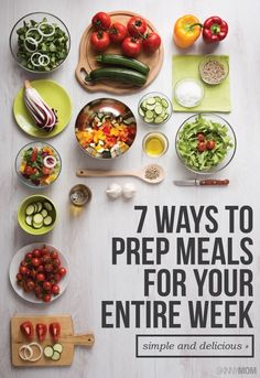 Prep your meals for the whole week with these tips! #mealprep #mealplanning