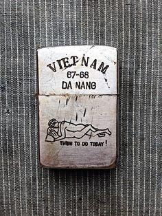 Vintage Genuine Vietnam War Era Engraved Zippo by MorningstarVTG