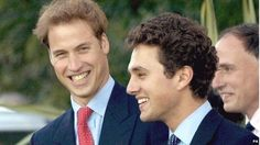 One of Charlotte's Godparents, Thomas van Straubenzee - here with William in 2005 - gave a speech at the duke and duchess's wedding