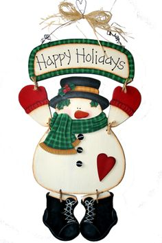 (CP-113) Happy Holidays Snowman Pattern Packet